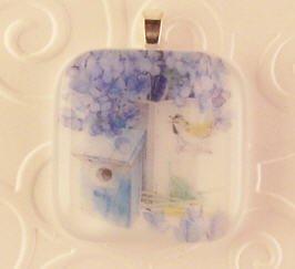 Fused Glass Pendants: Design #90