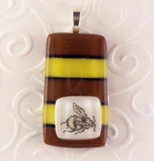Fused Glass Pendant: Design #124