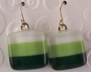 Fused Glass Earrings #179