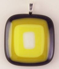 Fused Glass Pendant #184