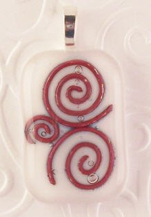 Fused Glass Pendant #298