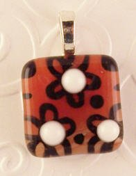 Fused Glass Pendant #326