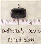 Fused Glass Pendant #321