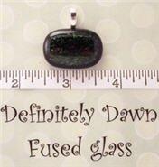 Fused Glass Pendant #294