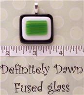 Fused Glass Pendant #293