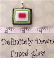 Fused Glass Pendant #253