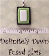 Fused Glass Pendant #250