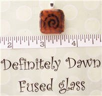 Fused Glass Pendant #229