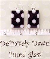 Fused Glass Earrings: Design #7