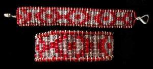 Bead Weaveless Bracelet - Rosettes