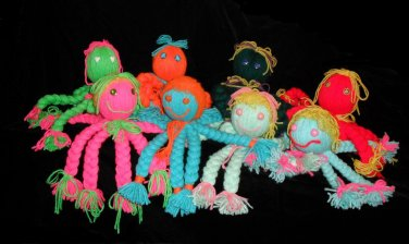 Retro 70's Yarn Octopus