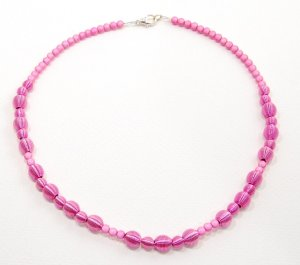 Pink Metal and Mother of Pearl Necklace