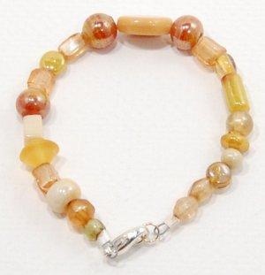 Gold Indian Glass Bracelet