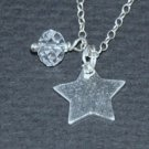 Sterling Silver Star and Swarovski Crystal
