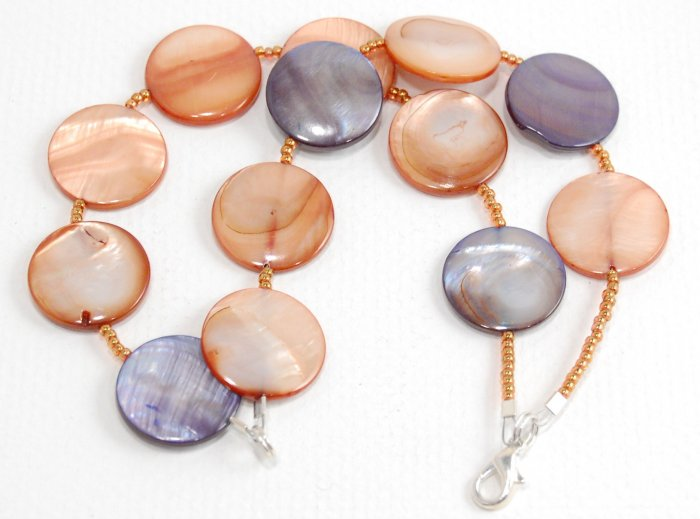 Brown and Blue Mother of Pearl Bracelet