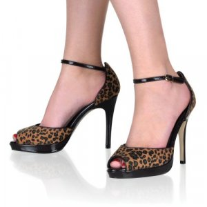 Bliss - zebra, leopard, or black gloss sizes 6-11