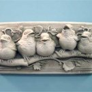 Baby Birds Plaque - Terra Cotta 116TC