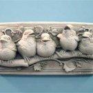 Baby Birds Plaque - Designer White 116W