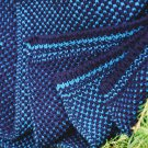 Two Color Seedstitch Throw - Navy