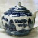 Blue Willow Teapot 3-cup