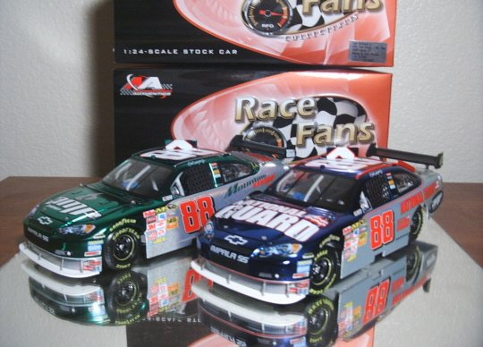 TWO Dale Earnhardt Jr. $72.95 2008 ACTION QVC RFO MESMA CHROME 1/24 Nascar Diecast