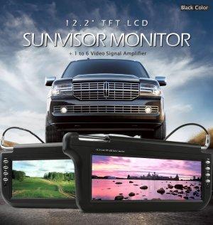 12.2 inch SunVisor TFT LCD Monitor (Black Color)