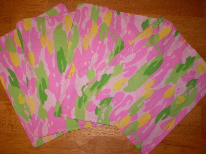 Cloth Napkins - Kid Size Pink Camo