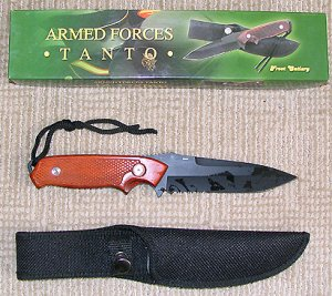 """10"""" Armed Forces Tanto Full Tang construction"""