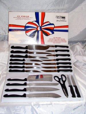 Chefs 21 piece Surgical Steel Stainless Kitchen Cutlery