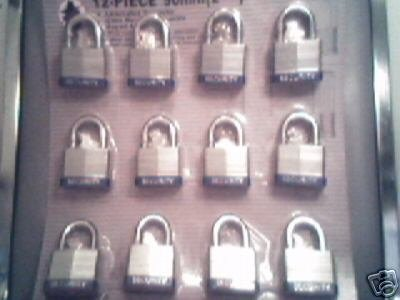 "40 mm Padlock - 12 pc keyed alike - 1-1/2 "" padlocks"