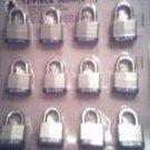 "40 mm Padlock - 12 pc keyed alike - 1-1/2 "" padlocks"
