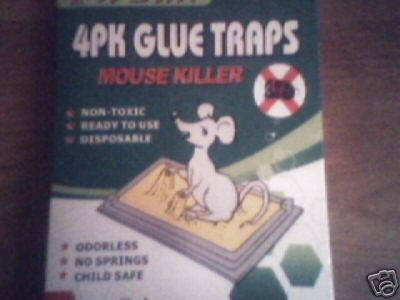 4 pk Glue Traps - Mouse killer
