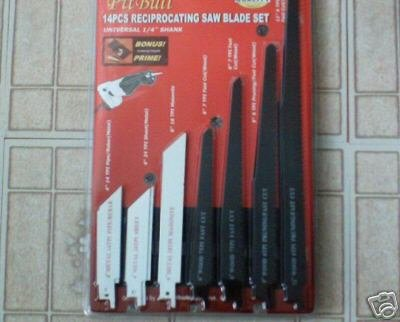 14 pc reciprocating saw blade set
