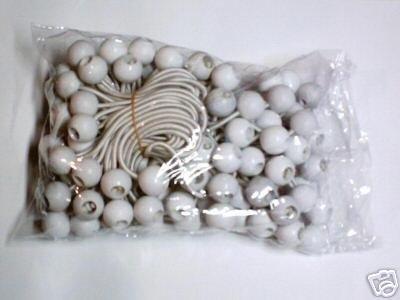"100pc Bunge Balls -- 9"" long  -- white"