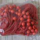"100pc BungeBalls -- 6"" long  --red -- ptm brand"