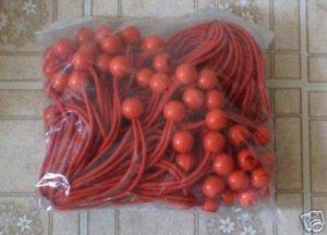"100pc BungeBalls -- 6"" long  --red -- ptm brand"