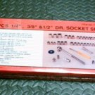 "52 PCS 1/4"", 3/8"", 1/2"" DR. SOCKET SET"