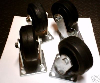 "4 PC - 5"" INDUSTRIAL CASTER - 2PC STATION - 2PC SWIVEL"