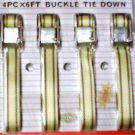 4pc - 1'' X 6' Heavy Duty Buckle Strap Tie Down