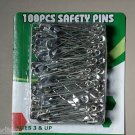 "100 pc safety pins - 2-1/4"" long"