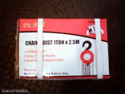 1 TON CHAIN HOIST x 2.5M