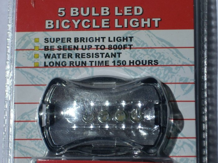 led bulb bicycle back light - clear