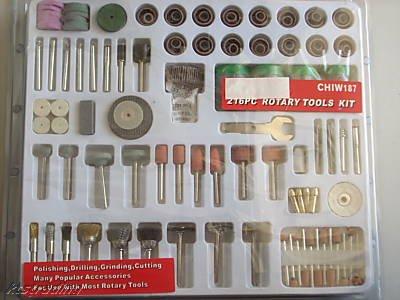 216 pc Rotary Tools Kit