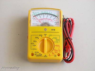 "Palm-Size Analog Multimeter - 2-1/2"" x 4"""