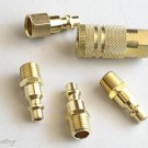 5pc Air Brass Fittings-COUPLER & CONNECTOR