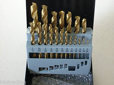19 pcs titanium hss drill bit set