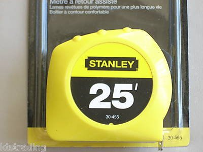 25' power return rule STANLEY TAPE MEASURE -- SAE