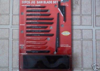 30 pc jig saw blade set