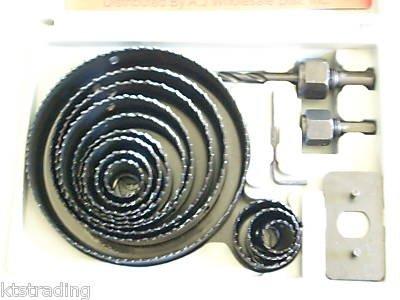 16 pcs hole saw kit