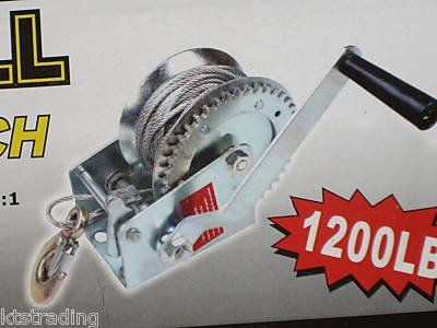 1200 lb HAND WINCH - STEEL WIRE